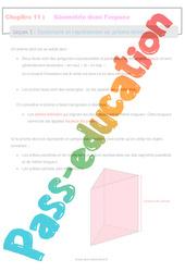 Construire et représenter un prisme droit - 5ème - Géométrie dans l'espace - Séquence complète