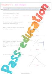 Construction d'un triangle quand on connait les trois côtés - 5ème - Séquence complète