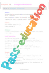Multiples et diviseurs - 4ème - Séquence complète