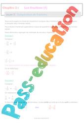 Comparaisons de fractions - 4ème - Séquence complète