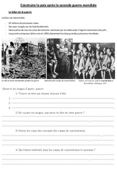 Construire la paix après la seconde guerre mondiale - Cm2