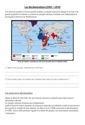 Les décolonisations (1947 - 1974)