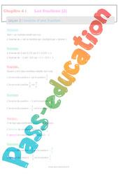 Inverse d'une fraction - 4ème - Séquence complète