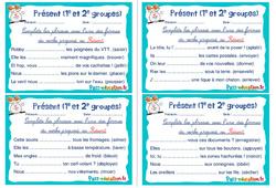 Présent (1e et 2e groupes) - Cm1 - Cm2 - Rituels - Conjugaison