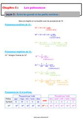 Écrire avec les grands nombres et les petits nombres - 4ème - Cours