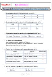 Écrire avec les grands nombres et les petits nombres - 4ème - Révisions - Exercices avec correction
