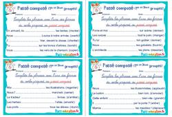 Passé composé (1er et 2ème groupes) - Cm1 - Cm2 - Rituels - Conjugaison