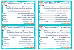 Passé composé - verbes 3e groupe (avoir et être) - Cm1 - Cm2 - Rituels - Conjugaison