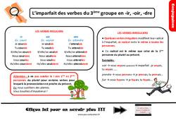 Leçon, trace écrite sur l'imparfait des verbes du 3ème groupe en -ir, -oir, -dre au Cm2
