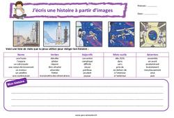 Les astronautes - Ce1 - Ce2 - Images séquentielles - Production d'écrit - Rédaction