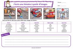 L'accident - Ce1 - Ce2 - Images séquentielles - Production d'écrit - Rédaction