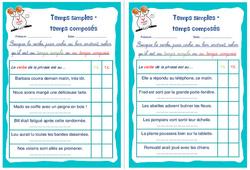 Temps simples – temps composés - Cm1 - Cm2 - Rituels - Conjugaison