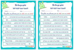 Homophones grammaticaux (et-est-son-sont) - Cm1 - Cm2 - Rituels - Orthographe