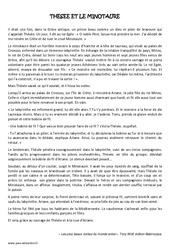 Thésée et le Minautore – Cm2 – Récit – Lecture