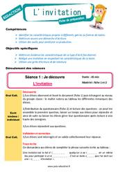 Carte d'invitation – Ce1 – Ce2 – Séquence complète –  Production d'écrit