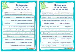 Homophones grammaticaux (mais_mes_met_mets-sans_sent_s'en_cent_sang) - Cm1 - Cm2 - Rituels - Orthographe