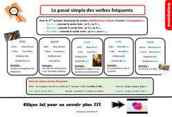 Leçon, trace écrite sur le passé simple des verbes fréquents du 3e groupe au Cm2