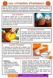 Les citrouilles d'halloween - Ce1 - Ce2 - Lecture documentaire à télécharger gratuitement