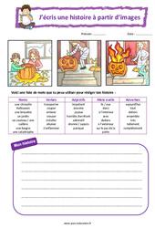 Halloween - Cp - Ce1 - Images séquentielles - Production d'écrit - Rédaction