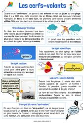 Le Cerf-volant - CE1 - CE2 - Lecture thématique