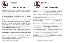 Clovis et le royaume des francs – Cm1 – Leçon