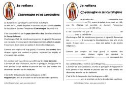 Charlemagne et les carolingiens – Cm1 – Leçon