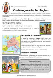 Charlemagne et les carolingiens - Cm1 - Exercices - Documentaire