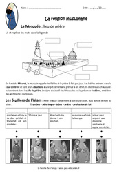La religion musulmane - Cm1 - Exercices