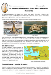 Le phare d'Alexandrie - Cm1 - Exercices - Documentaire