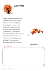L'automne – Ce2 – Poésie