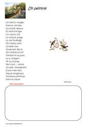 Un peintre – Cm1 – Poésie