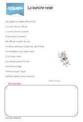 La blanche neige - Cm2 - Poésie