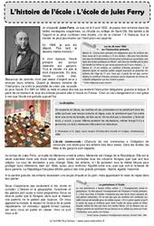 Ecole de Jules Ferry – Cm2 – Exercices