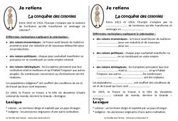 Conquête des colonies – Cm2 – Leçon