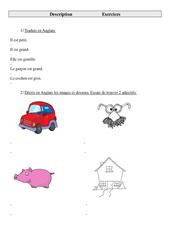 Description – Ce2 – Cm1 – Cm2 – Exercices – Anglais – Cycle 3 (1)