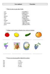 Couleurs en anglais: Colors – Ce2 – Cm1 – Cm2 – Exercices – Anglais – Cycle 3 (1)