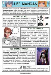 Les mangas - Cm1 - Cm2 - Lecture documentaire
