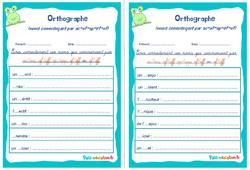 Noms commençant par ac-af-ap-ef-of - Cm1 - Cm2 - Rituels - Orthographe