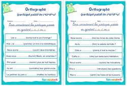 Le participe passé en i-is-it-u - Cm1 - Cm2 - Rituels - Orthographe