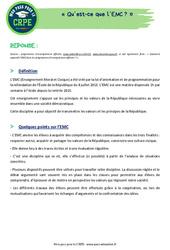 Qu'est-ce que l'EMC? - CRPE2022