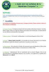 Quels sont les symboles de la République française? - CRPE2022