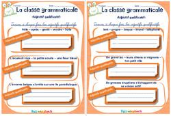 Adjectif qualificatif - Cm1 - Cm2 - Rituels - La classe grammaticale
