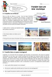 Travailler dans une zone touristique - Cm1 - Exercices