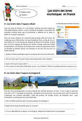 Loisirs en zone touristique - Cm1 - Exercices