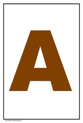 Alphabet – Lettre d'imprimerie – Affichage en couleur – Maternelle