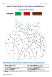 Fonction d'un mot – Ce2 – Coloriage magique
