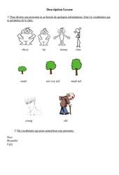 Description – Ce2 – Cm1 – Cm2 – Leçon – Anglais – Cycle 3