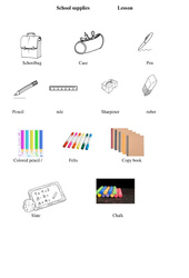 Le matériel scolaire-School supplies – Ce2 – Cm1 – Cm2 – Leçon – Anglais – Cycle 3