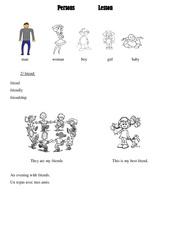 Les personnes – persons – Ce2 – Cm1 – Cm2 – Leçon – Anglais – Cycle 3