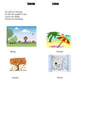 Les saisons – seasons – Ce2 – Cm1 – Cm2 – Leçon – Anglais – Cycle 3